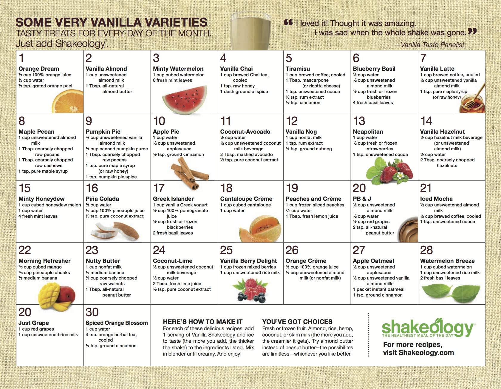 Shakeology Recipes   Lauren Majewski